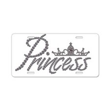 Diamond Princess and Tiara Aluminum License Plate