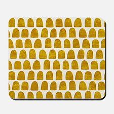 Gold Leaf Mustard Yellow Dot pattern Mousepad
