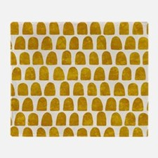 Gold Leaf Mustard Yellow Dot pattern Throw Blanket
