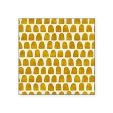 "Gold Leaf Mustard Yellow Do Square Sticker 3"" x 3"""