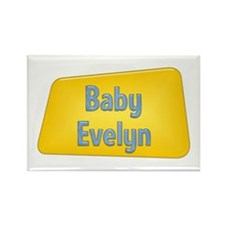 Baby Evelyn Rectangle Magnet