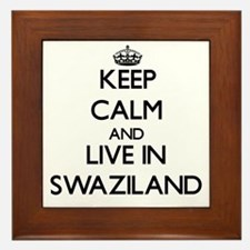 Keep Calm and Live In Swaziland Framed Tile