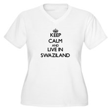 Keep Calm and Live In Swaziland Plus Size T-Shirt