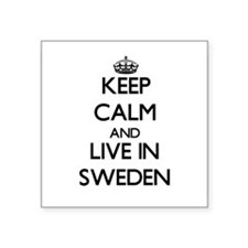 Keep Calm and Live In Sweden Sticker