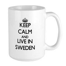Keep Calm and Live In Sweden Mugs