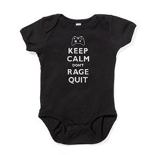 Keep Calm Dont Rage Quit - Funny Gamer Graphic Bab