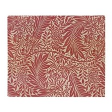 William Morris Larkspur design. Throw Blanket
