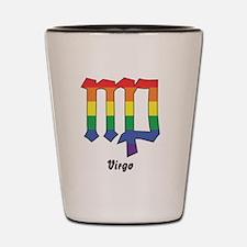 Rainbow Virgo sign Shot Glass