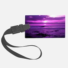 Purple Sunset Luggage Tag
