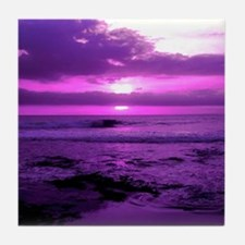 Purple Sunset Tile Coaster