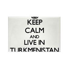Keep Calm and Live In Turkmenistan Magnets