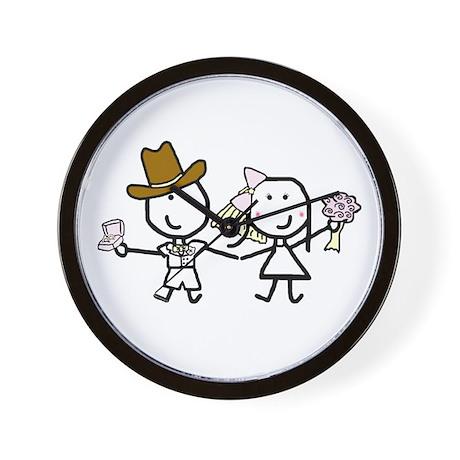 Wedding - Steven & Tracy 3 Wall Clock