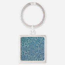 William Morris Acorn  Square Keychain