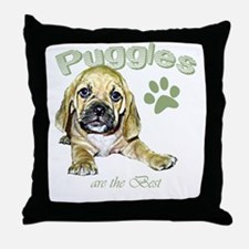 The Best Puggle Design Throw Pillow