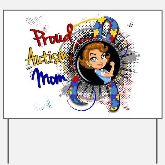 Autism Rosie Cartoon 1.1 Yard Sign