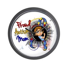 Autism Rosie Cartoon 1.1 Wall Clock