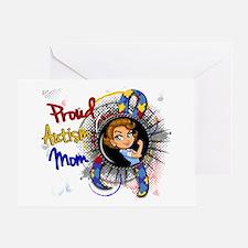 Autism Rosie Cartoon 1.1 Greeting Card