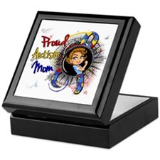Autism Rosie Cartoon 1.1 Keepsake Box