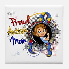 Autism Rosie Cartoon 1.1 Tile Coaster