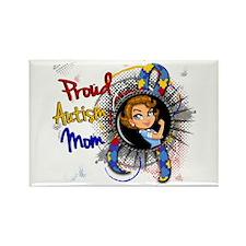 Autism Rosie Cartoon 1. Rectangle Magnet (10 pack)