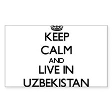 Keep Calm and Live In Uzbekistan Decal