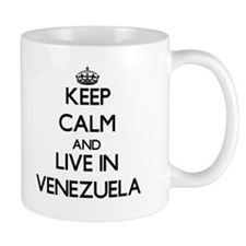 Keep Calm and Live In Venezuela Mugs