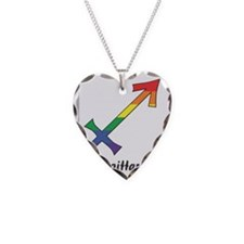 Rainbow Sagittarius symbol Necklace