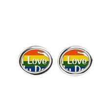 Rainbow I love my dog Cufflinks