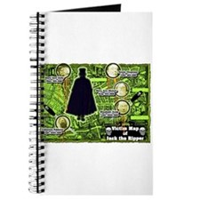 Jack the Ripper Victim Map Green Journal