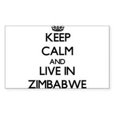 Keep Calm and Live In Zimbabwe Decal