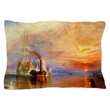 The Fighting Temeraire by Turner Pillow Case