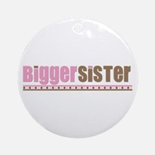 bigger sister pink brown Ornament (Round)