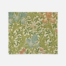 William Morris Iris Design Throw Blanket