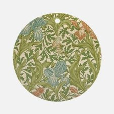 William Morris Iris Design Round Ornament