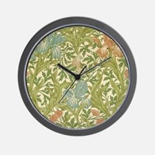 William Morris Iris Design Wall Clock