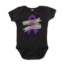 Domestic Violence Standing Strong Baby Bodysuit