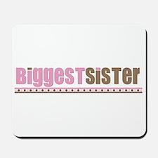 biggest sister pink brown Mousepad