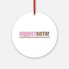 biggest sister pink brown Ornament (Round)