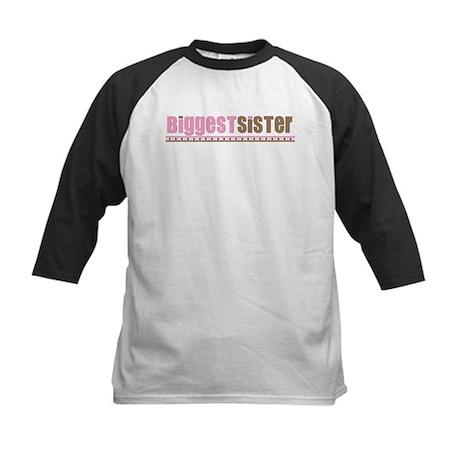 biggest sister pink brown Kids Baseball Jersey