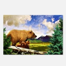 Three Grizzlies in Montana Postcards (Package of 8