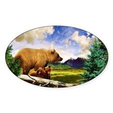 Three Grizzlies in Montana Decal
