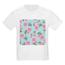 Pink Roses on mint T-Shirt