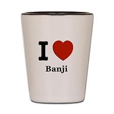 I love Banji Shot Glass
