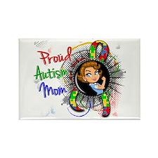 Autism Rosie Cartoon 1.2 Rectangle Magnet