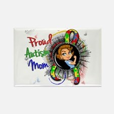 Autism Rosie Cartoon 1.2 Rectangle Magnet
