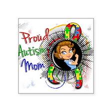 """Autism Rosie Cartoon 1.2 Square Sticker 3"""" x 3"""""""