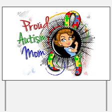 Autism Rosie Cartoon 1.2 Yard Sign