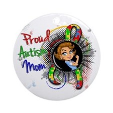 Autism Rosie Cartoon 1.2 Ornament (Round)