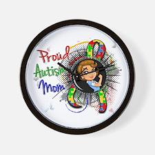 Autism Rosie Cartoon 1.2 Wall Clock