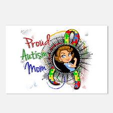 Autism Rosie Cartoon 1.2 Postcards (Package of 8)